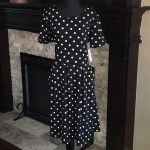 Black Amelia Dress w/ Polka Dots